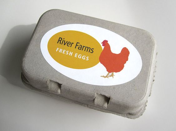 Egg Carton Labels, Customized Personalized Egg Label, Food Label ...