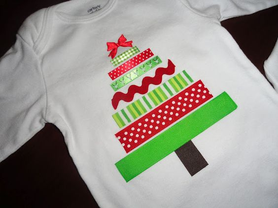 Quick holiday shirt idea.  Can be used on a onsie, a t-shirt, or a sweatshirt!: