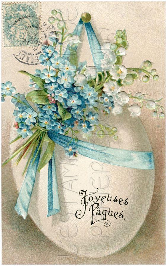 DIGITAL Download JOYEUSES PAQUES Happy Easter by lestampeoriginale, $2.50