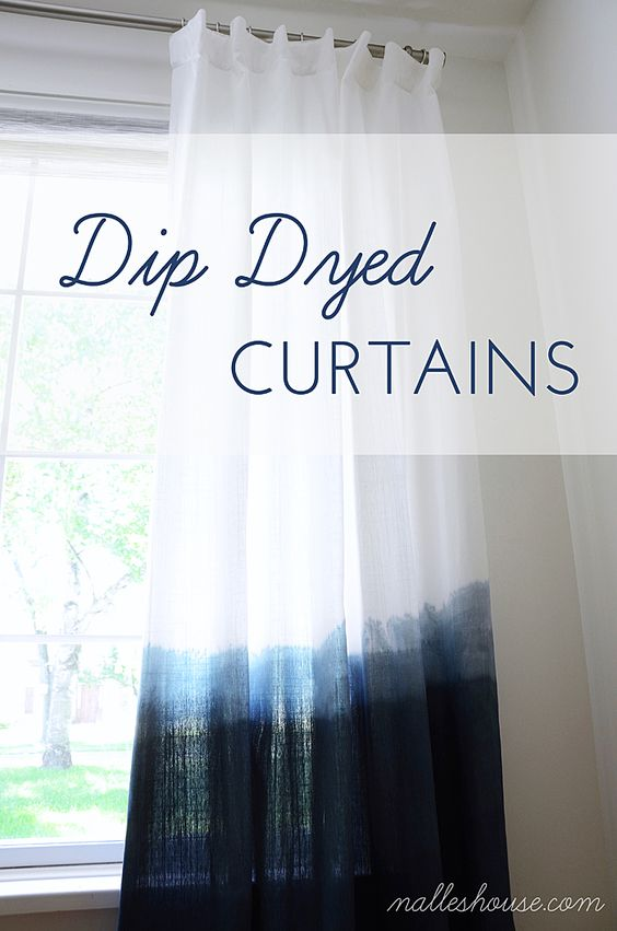 Easy DIY Dip Dyed Curtains made by Anu from Nalle's House featured ...