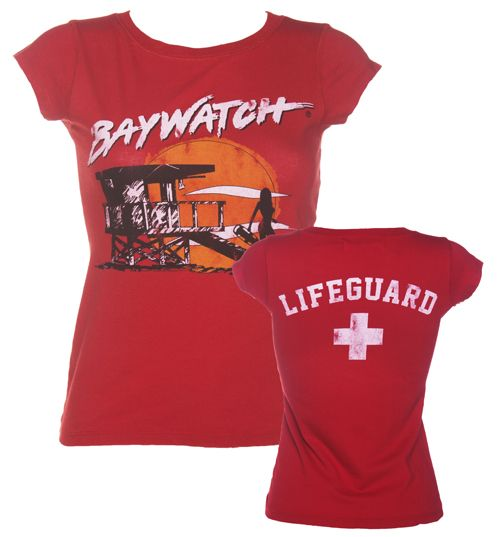 Ladies Baywatch Lifeguard Vintage T-Shirt