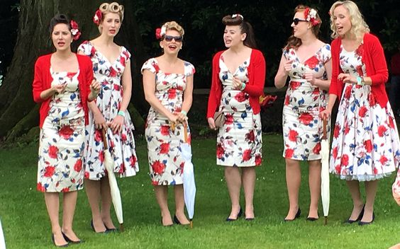 Tootsie Rollers. Aynho Fete. 12-June 2016.  It was a 'Right Royal Do'!