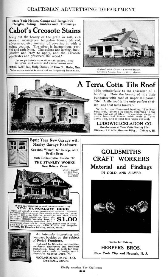 Decorative Arts The Craftsman Book Reviews Craftsman Vintage Ads Craftsman Style