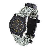 Sizet Survival Paracord Bracelet With Watch