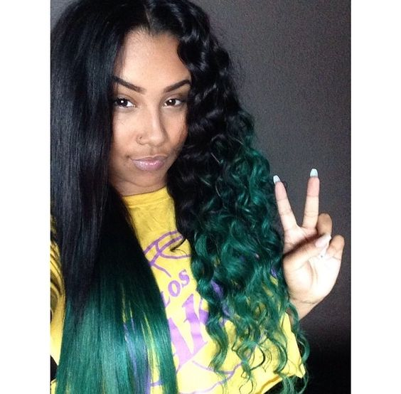 Blue Green Ombre Hair Pinterest Ombre Weave Styles And Hair