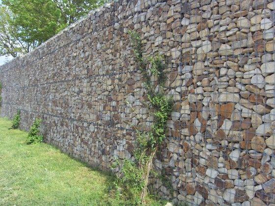 Gabionen? Super als #Mauer und als Sichtschutz zum Nachbarn - garten sichtschutz mauer