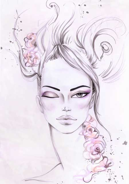 How to draw fashion eyes | Fashion Drawing | Templates and Tutorials