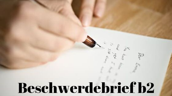Beschwerdebrief B2 Beispiel Pdf Und Muster Telc In 2020 Brief Deutsch Lernen Briefe Schreiben