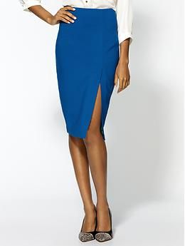 Ark & Co. Pop Pencil Skirt - Piperlime $59 [not quite office appropriate but great slit]