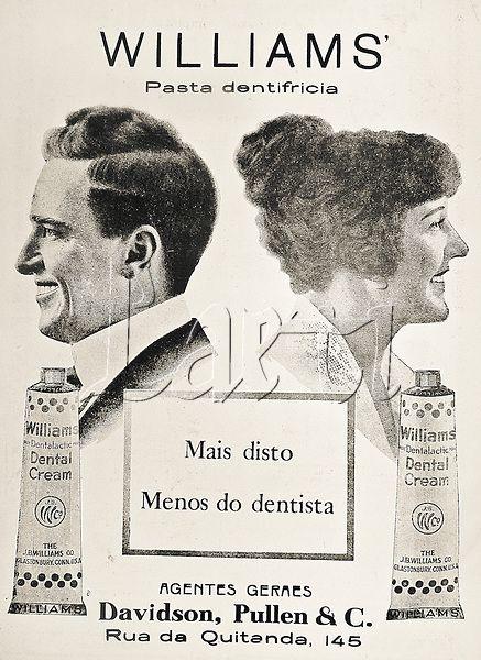 Anúncio publicitário de dentifrício da marca Williams publicado em periódico semanal. Rio de Janeiro, fevereiro de 1920.
