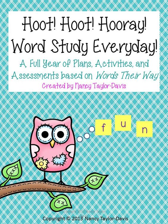 Hoot hooray words their way assessment word