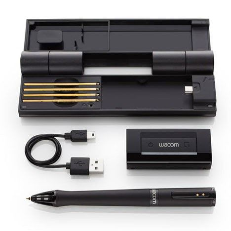 Inkling Digital Sketch Pen by Wacom. No tablet! Draw on anything and record your strokes to a digital file.   Wow. Want.