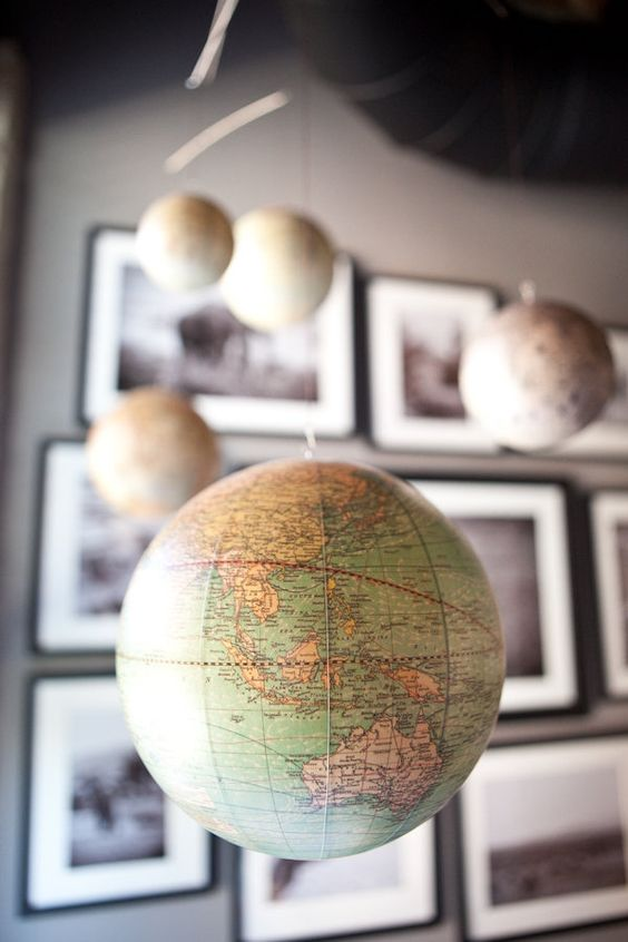 I am not a planner, but Jimmy and I have always said a map/globe theme nursery would be super cute!: