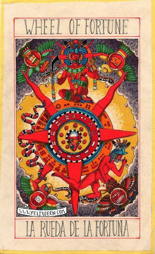 Tarot D The Didactic Tarot By Jeffrey M Donato: Aztec Tarot Deck Wheel Of Fortune. Not An