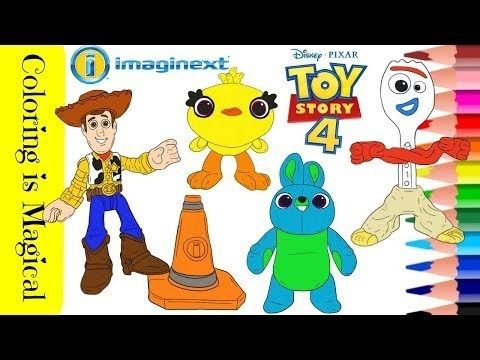 Coloring 4 Characters From Toy Story 4 Art Toy Toy Story Coloring Pages