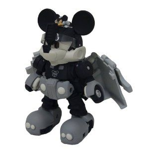 Mickey Mouse Transformer - Black & White Version  #toys #mickey mouse