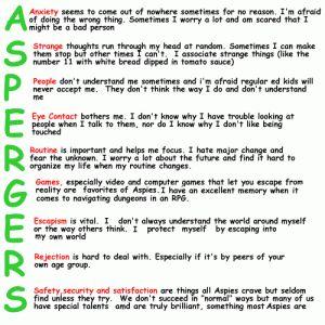 Description of what Asperger's is