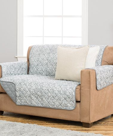 Love this Katrina Gray Stain-Resistant Furniture Cover on #zulily! #zulilyfinds
