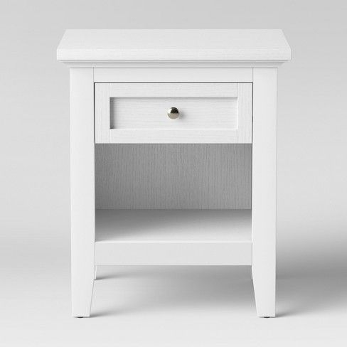 Carson End Table Threshold End Tables Storage Spaces White