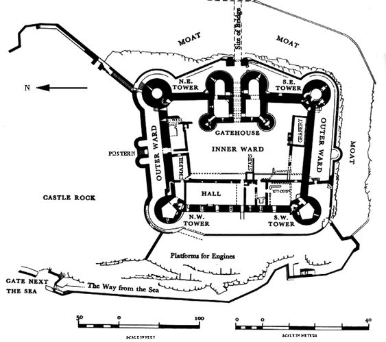 Medieval castle floor plans and castles on pinterest for Castle blueprints and plans