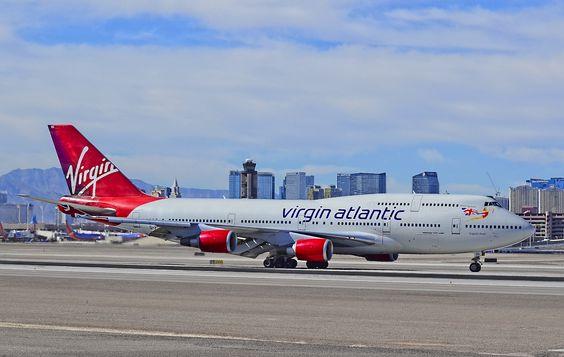 https://flic.kr/p/gfJKMg | Virgin Atlantic Airways Boeing 747-443 G-VROS (cn 30885/1268) 'English Rose' | McCarran International Airport (KLAS) Las Vegas, Nevada TDelCoro September 29, 2013