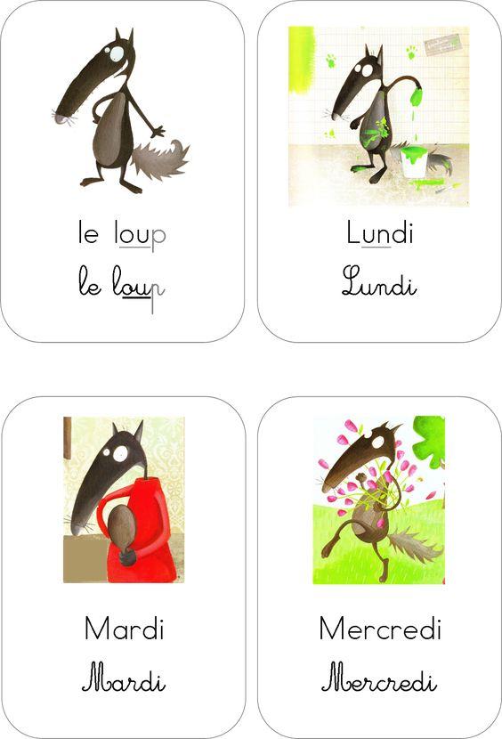 Tiquettes jours de la semaine maternelle le loup pinterest ressources centr es sur l - Lundi de pentecote signification ...