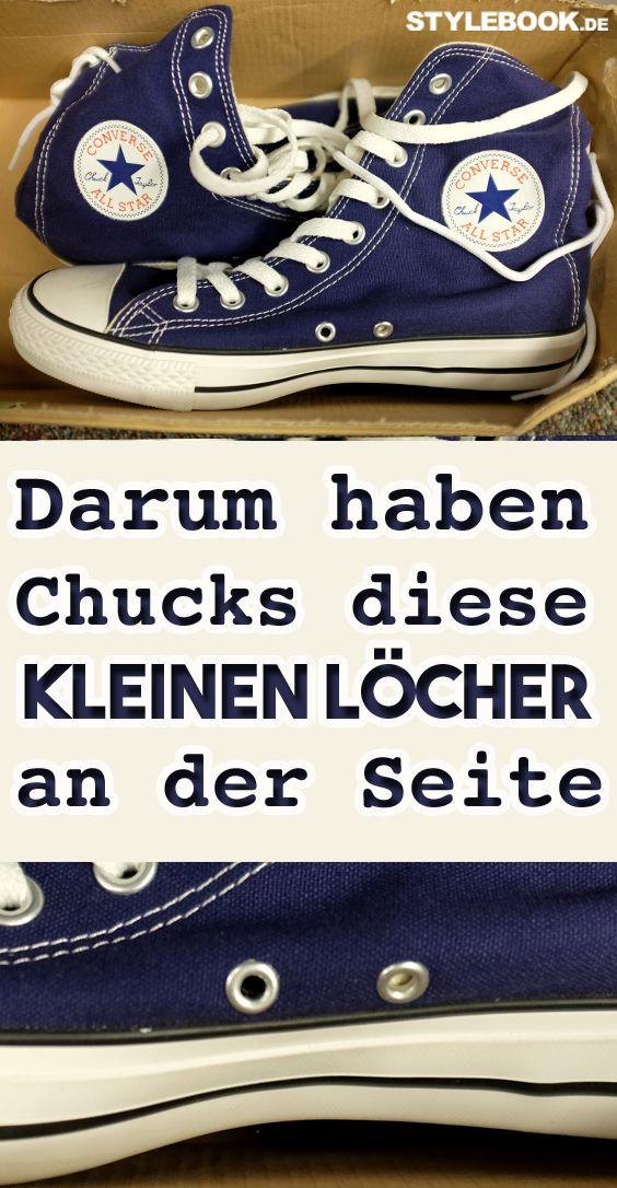 Converse Chucks: Wofür sind die seitlichen Löcher?