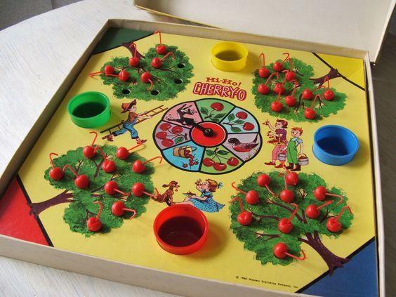 Vintage Hi Ho Cherry O Board Game c. 1960 - Complete Children's Game - Retro Toy. $22.00, via Etsy.