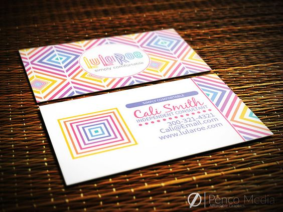Custom LuLaRoe Business Cards Design Option 1 by PencoMedia ...