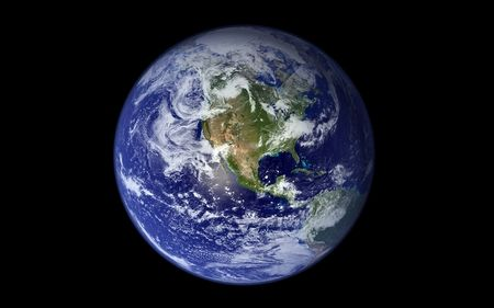 the Earth, our blue planet
