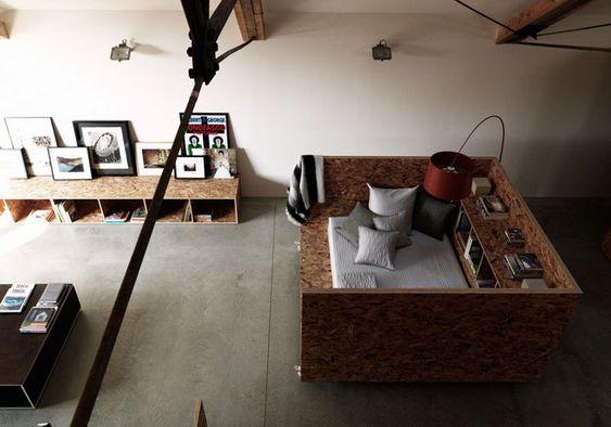 OSB furnishings.  Carl Turner Architects