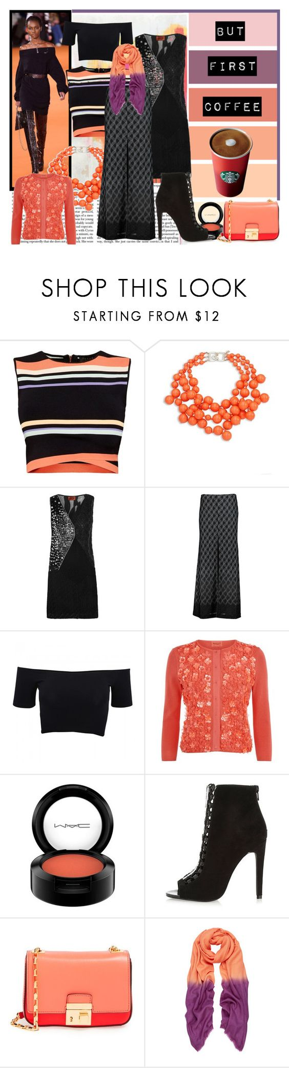 """""""At the beginning I always hate orange......"""" by loveyou-331 ❤ liked on Polyvore featuring American Vintage, Ted Baker, Kenneth Jay Lane, Missoni, American Apparel, Giambattista Valli, MAC Cosmetics, River Island and Michael Kors"""