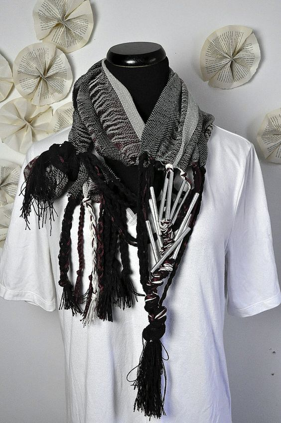 Scarf and necklace all in one fun piece