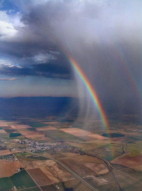 Rain cloud with rainbow: