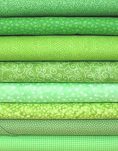 Bright Green Fabric Bundle: