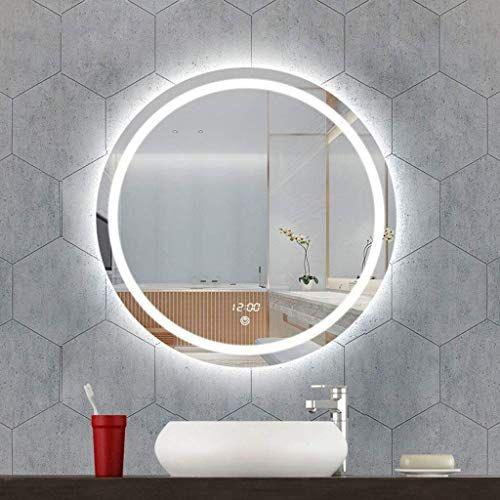 Grj Household Items Round Decorative Wall Mirror Modern Stylish Creative Hanging Vanity Mirror For Bathro In 2020 Mirror Wall Bathroom Bathroom Mirror Fogless Mirror