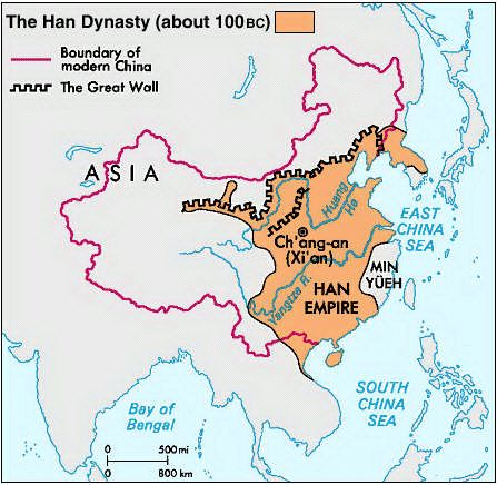 Mapstillthe han dynasty 206 bcad 220 expanded the boundaries mapstillthe han dynasty 206 bcad 220 expanded the boundaries of china and further extended the great wall along its northern frontier f sciox Gallery