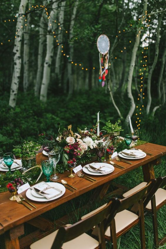 String lights, whimsical dream catchers, and a boho tablescape | Nhiya Kaye Photography