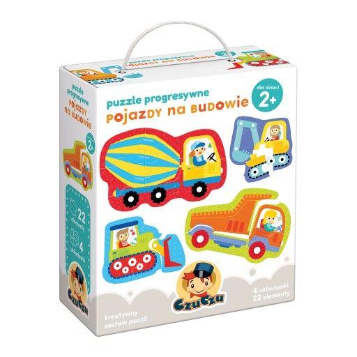 Czuczu Pojazdy Na Budowie Puzzle Progresywne 2 Construction Vehicles Puzzles For Kids Puzzle Set