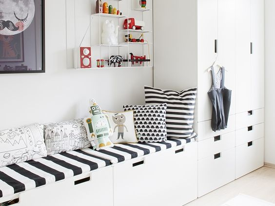 banquette rangement coffre d co pinterest stockage de banc fils et tag res. Black Bedroom Furniture Sets. Home Design Ideas