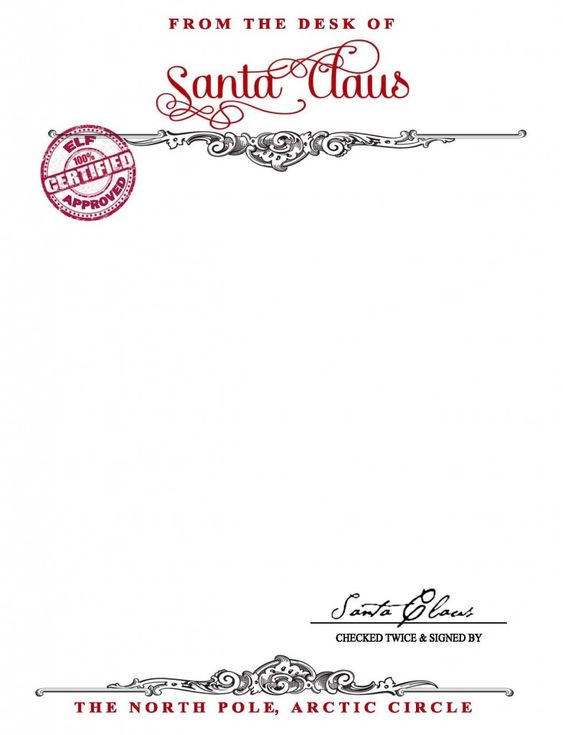 Santa Claus Stationary {Free Printable} - Your Golden Ticket Blog ...