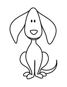 Puppy Dog Doodle Coloring Page Coloring Clipart Best Clipart Best Dog Coloring Book Dog Drawing Simple Dog Drawing