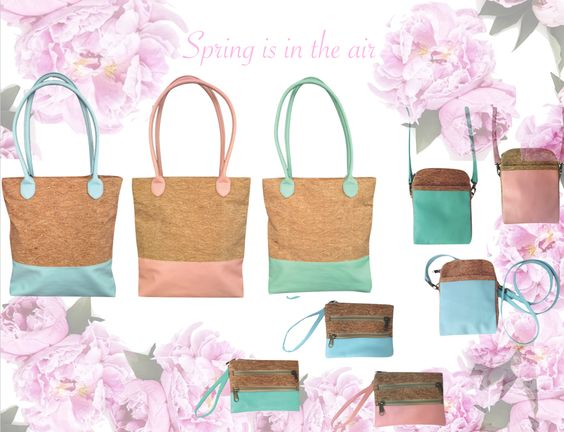 Spring is in the air with our #cork and leather bags!: