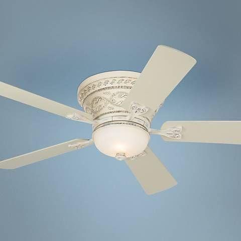Led White Hugger Ceiling Fan
