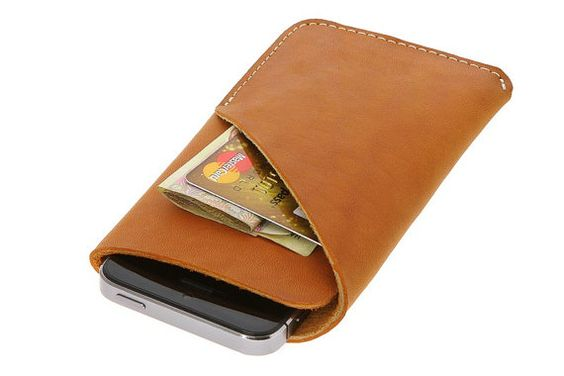 iPhone Leather Case with Wallet Minimalistic Design by TopPetShop