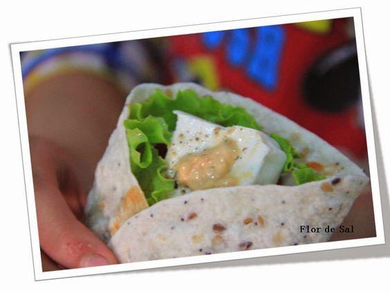 Flor de Sal: Wrap de queijo fresco ... porque estamos de dieta....