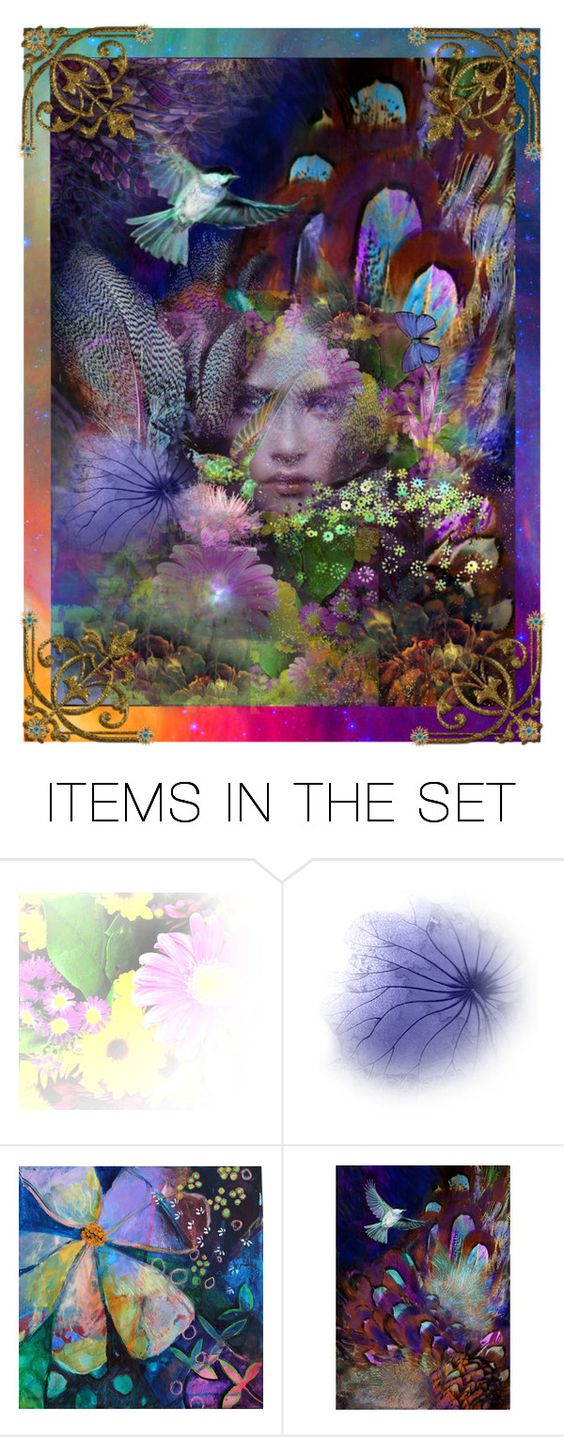 """""""Garden of Earthly Delights Two"""" by thresholdpaperart ❤ liked on Polyvore featuring art and artexpression"""