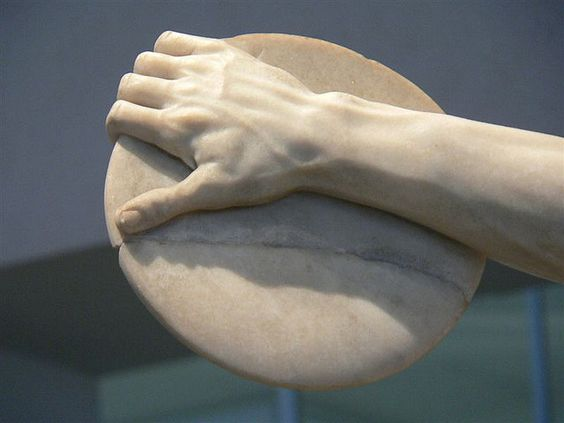 Hand of a Discus Thrower 1st century CE Roman copy of 5th century Greek original by Myron