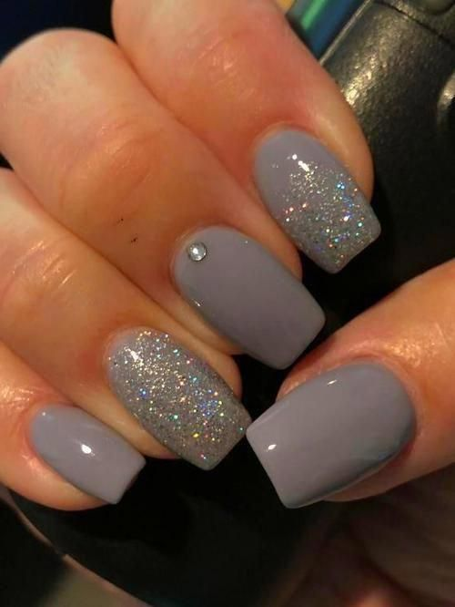 Nails 36 Perfect And Outstanding Nail Designs For Winter 2018 Dark Color Nails Nails 36 Perfec In 2020 Dark Color Nails Winter Nails Acrylic Grey Acrylic Nails