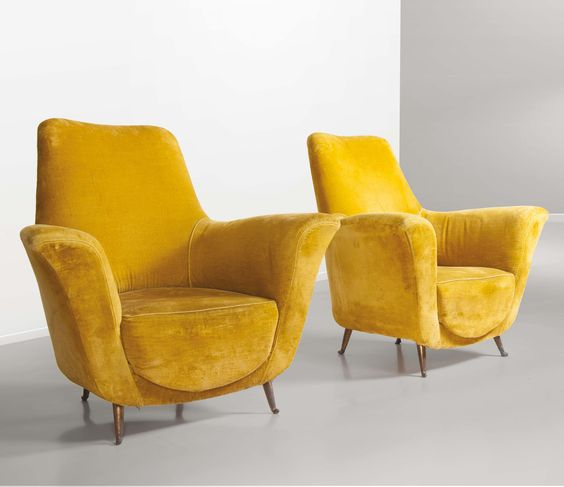 Luisa and Ico Parisi; Lounge Chairs, 1950s.